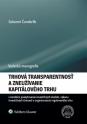 Trhová transparentnosť a zneužívanie kapitálového trhu v korelácii poskytovania investičných služieb, výkonu investičných činností a organizovania regulovaného trhu