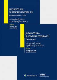 Balíček - Judikatúra Súdneho dvora EÚ vo veciach dane z pridanej hodnoty za roky 2011-2012 a rok 2013