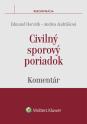 Civilný sporový poriadok - komentár (E-kniha)