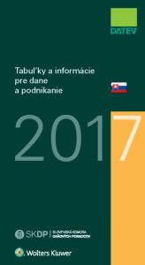 Tabuľky a informácie pre dane a podnikanie 2017